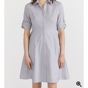 REITMANS Striped 3/4 Sleeve Shirt Dress